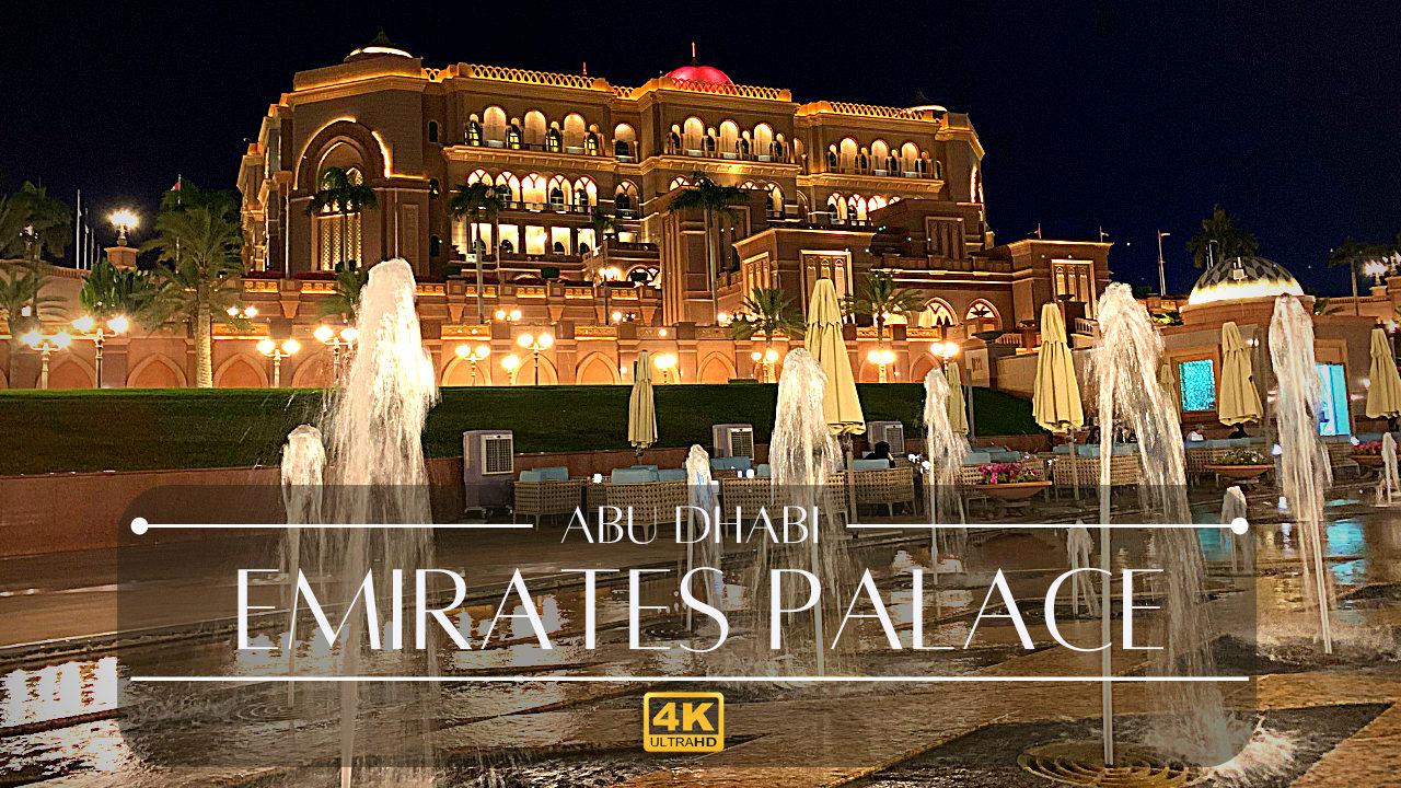 emirates palace hotel abu dhabi tour 4k